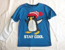 Krásné triko s tučňákem, 6-7 let, george,122