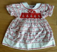 Šaty baby trend s námořnickým motivem- vel. 74, 74