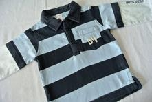 Pruhované polo tričko s dvouvrstvým efektem, c&a,74