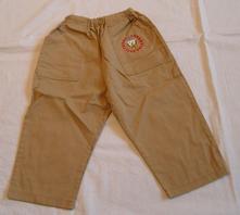 E168dívčí / chlapecké plátěné kalhoty, 92