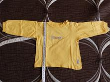 Triko dlouhý rukáv žluté, 74