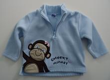 Flísová mikina s opičkou, 86