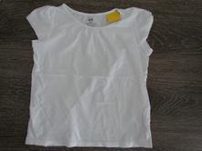 Bílé tričko h&m v 122/128, h&m,122