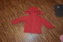 Červená šusťáková bunda vel. 122/128, 122