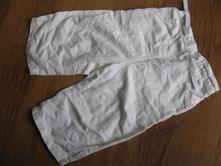 Plátěné 3/4 kalhoty, next,92