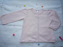 Bavlněný růžový svetřík se sovičkou, vertbaudet, vertbaudet,92