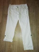 Dámské bílé plátěné kalhoty rool-up vel.42/44 l-xl, l