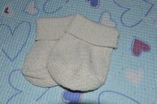 Pletené ponožky, capáčky, 74