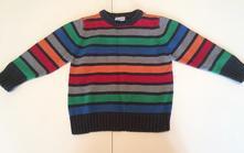 Bavlněný svetr duhový, ladybird,98