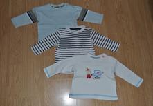 3x tričko s dlouhým rukávem, baby club,68