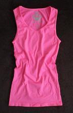 Dívčí funkční tílko top neonově růžový 158/164/170, 164