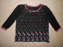 Černé tričko / tunika s květinami, cherokee,92