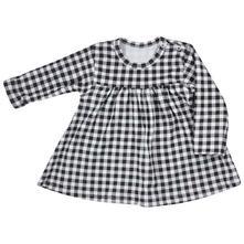 Bavlněné šatičky koala checkered černo-bílé, koala baby,62 / 68 / 74 / 80 / 86
