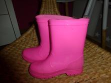 Neon růžové holínky gumáky, f&f,27