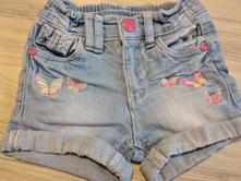 Riflové šortky s motýlky vel. 92, kik,92