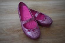 Třpytivé růžové balerínky crocs c12 - 30, crocs,30