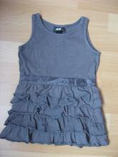 Volánkové khaki šaty, h&m,80