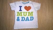 Bavlněné tričko s nápisem, h&m,86