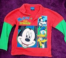 Krásné tričko/mikina mickey a přátelé, 3-4 roky, f&f,104