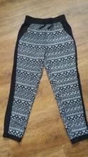 Černo-bílé vzdušné kalhoty, c&a,146