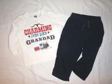 Super komplet western trička a rolovacích kalhot, bluezoo,80