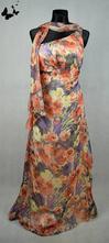 Dlouhé květované šaty vel 40, 40