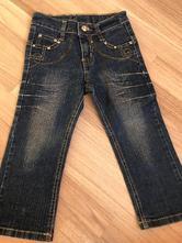 Tmavě modré džíny s kamínky, 98