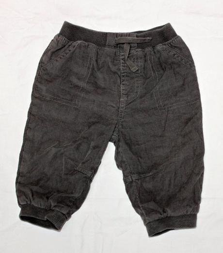 Kalhoty zateplené šedý manšestr , f&f,74