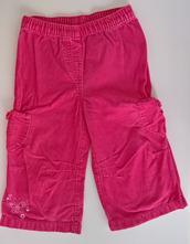 Růžové manžestráky, mothercare,80