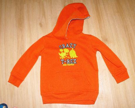 A153. oranžová mikina s kapucí, kiki&koko,98