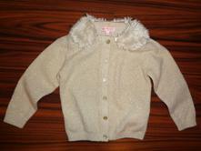 Krásný zlatý elegantní svetr s kožešinkou, c&a,92