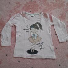 Bavlněné tričko s dlouhým rukávem, pepco,98
