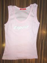 Luxusní růžové tílko esprit - postříbřený nápis, esprit,m