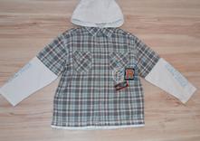 Košile s kapucí, vel. 116,, 116