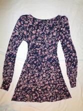 2b45818de294 Luxusní fialové šaty - růžové květy - uk 10