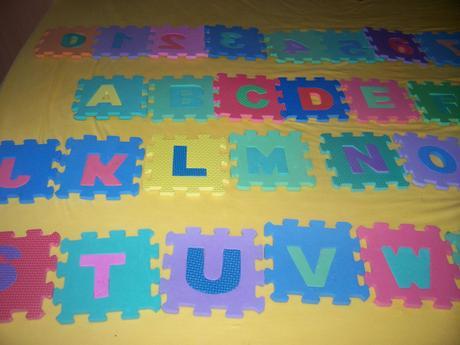 Pěnové puzzle abeceda,