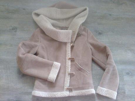 Kabátek do pasu s kapucí zara, zara,m