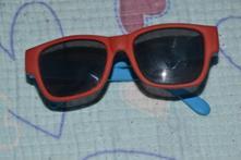 Červené sluneční brýle, unisex, 1-3 roky, tesco,,