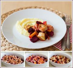 Pečená krůta s mrkví a řepou