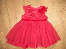 Červené šaty 12-18m, 80