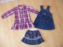 Dívčí šatičky a sukýnky, vel. 80, 86, 92,