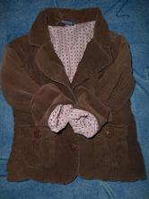 Manžestrové podšité sako, sáčko, pumpkin patch,122