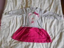 Mikinové šaty s medvídkem pro holčičku, 92, pepco,92