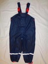 Modročervené nepromokavé kalhoty - podšité flízem, impidimpi,110