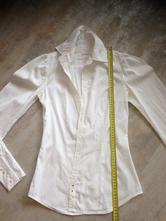Bílá košile blůza replay xsmall vel.36 kamínky, replay,36