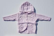 C21dívčí elegantní svetřík s kapucí, h&m,74