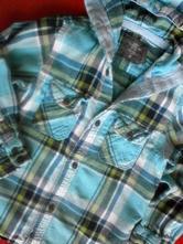 Flanelová košile s kapucí, h&m,110