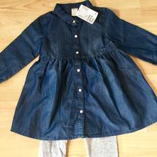 H&m tunika - šaty a legíny, h&m,92