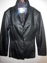 Černé kožené sako kabátek bunda, s
