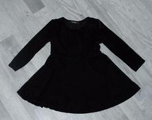 Slavnostní sametové černé šaty s dlouhým rukávem, george,86